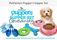 PetFactors Pupper's Supper Set Giveaway