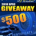 RacingJunk 2018 SPEC Giveaway