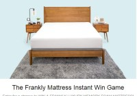 The Frankly Mattress Instant Win Game - Win Frankly Memory Foam Mattress