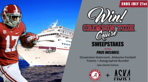 Crimson Tide Cruise Sweepstakes