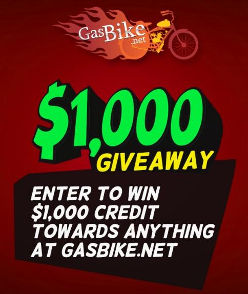 GasBike $1,000 Giveaway