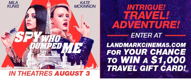 Landmark Cinemas The Spy Who Dumped Me Contest