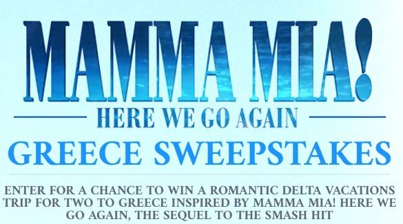 Mamma Mia Here We Go Again Sweepstakes
