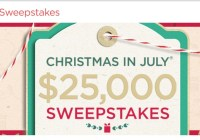 QVC Christmas In July Sweepstakes - Win $25000 Check