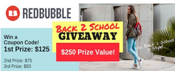 Redbubble Back To School Giveaway