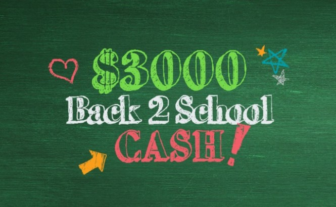 Back 2 School Cash Sweepstakes - Chance To Win $3000 Cash