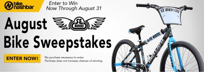 Bike Nashbar Sweepstakes