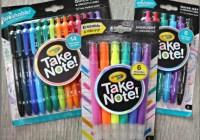 Crayola Take Note Giveaway