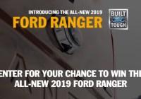 Ranger Drive Tour Sweepstakes