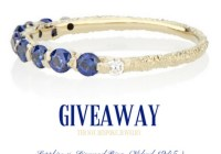 Sapphire And Diamond Ring Giveaway