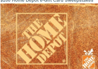 The Beat $200 Home Depot e-Gift Card Sweepstakes