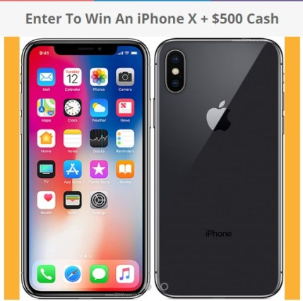 iPhone X + $500 Cash Giveaway