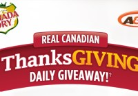 Canada Dry Real Canadian Thanksgiving Daily Giveaway