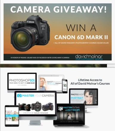 David Molnar Camera Giveaway - Win Canon 6D Mark II