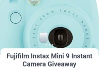 Zun Rae Instant Camera Giveaway
