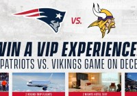 Patriots Vs Vikings Canada Sweepstakes
