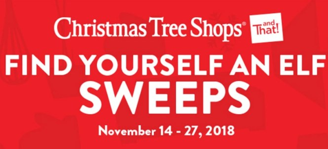 Christmas Tree Shops Find Yourself An Elf Sweepstakes