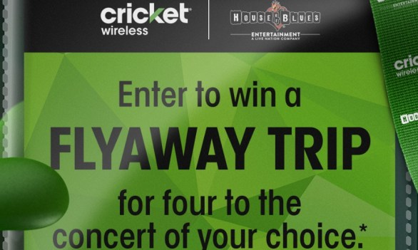 Cricket Consumer Choice Flyaway Sweepstakes