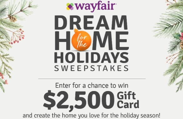 HGTV Wayfair Dream Home For The Holidays Sweepstakes