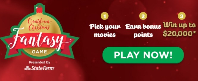 Hallmark Channel Countdown To Christmas Fantasy Game Promotion