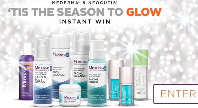 Mederma And Neocutis Tis The Season To Glow Instant Win Game