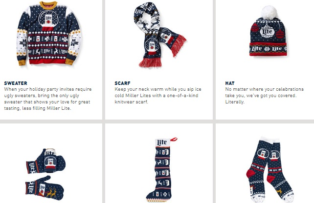 Miller Lite Holiday Instant Win Game - Win Ugly Sweater