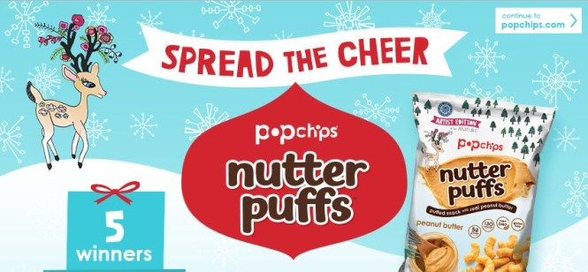 Nutter Puffs Spread The Cheer Sweepstakes