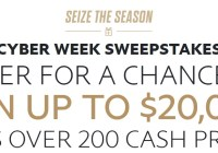 PayPal Cyber Week Sweepstakes