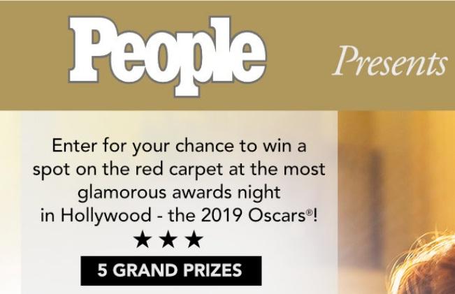 People Oscars Fan Experience Sweepstakes