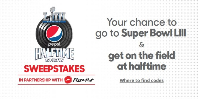 Pepsi Super Bowl LIII Halftime Show Sweepstakes