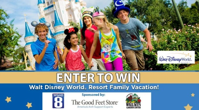 WQAD 8 Walt Disney World Resort Family Vacation Sweepstakes