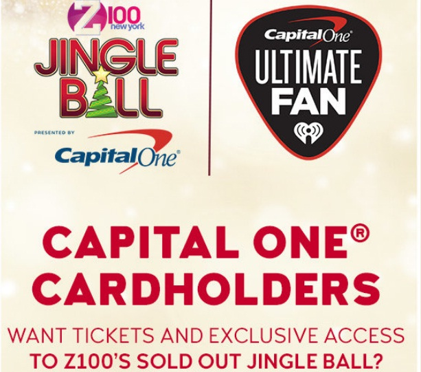Z100's Jingle Ball Capital One Cardholders Sweepstakes