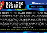 iHeartRadio Rolling Stones No Filter Tour Sweepstakes