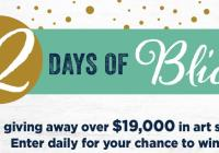 Blick Art Materials 12 Days Of Blick Sweepstakes
