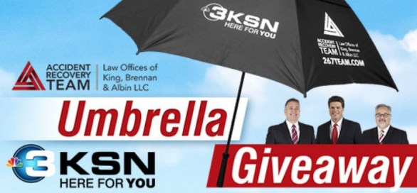 KSN / Accident Recovery Team Umbrella Giveaway