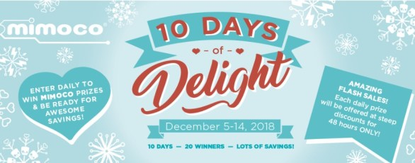 Mimoco 10 Days Of Delight Sweepstakes