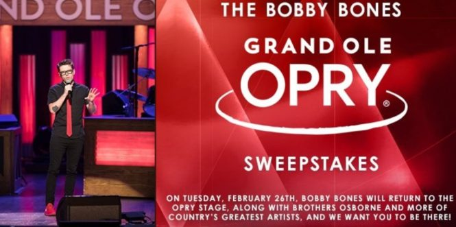 Bobby Bones Show Grand Ole Opry Sweepstakes