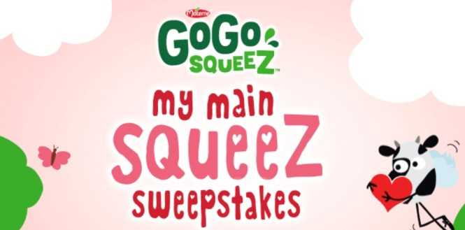 GoGo squeeZ My Main squeeZ Sweepstakes