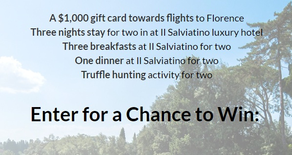 Luxury Trip To Florence Sweepstakes