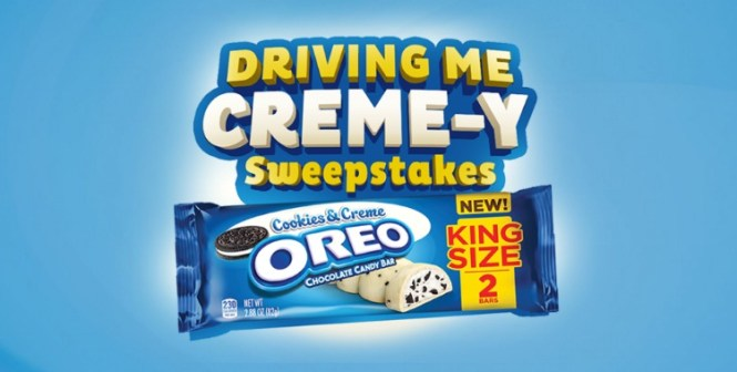 Oreo Chocolate Candy Bars Driving Me Creme-y Sweepstakes