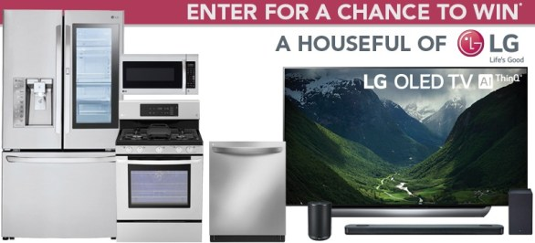 P.C. Richard And Son LG Houseful Of Products Sweepstakes