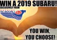 Patriot Subaru Win A 2019 Subaru Sweepstakes