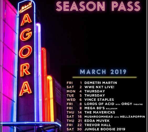100.7 WMMS Agora Season Pass Contest