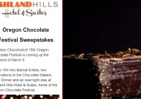 KDRV Oregon Chocolate Festival Sweepstakes