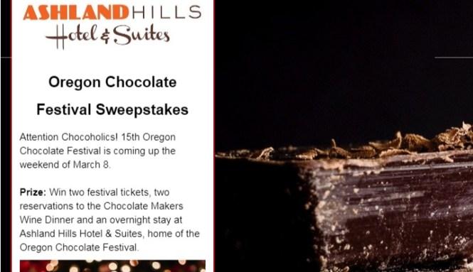 KDRV Oregon Chocolate Festival Sweepstakes