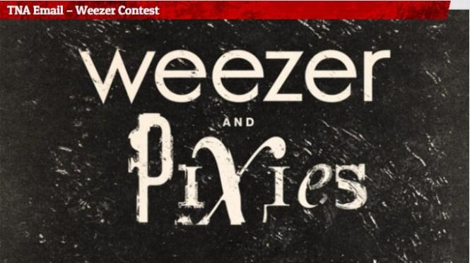 Lazer 103.3 TNA Email Weezer Contest