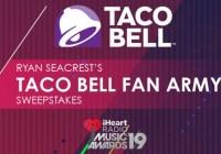 Ryan Seacrest Taco Bell Best Fan Army Sweepstakes