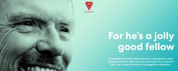 Virgin Voyages Richards Birthday Sweepstakes