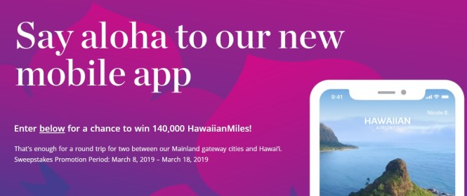 Hawaiian Airlines Mobile App Sweepstakes