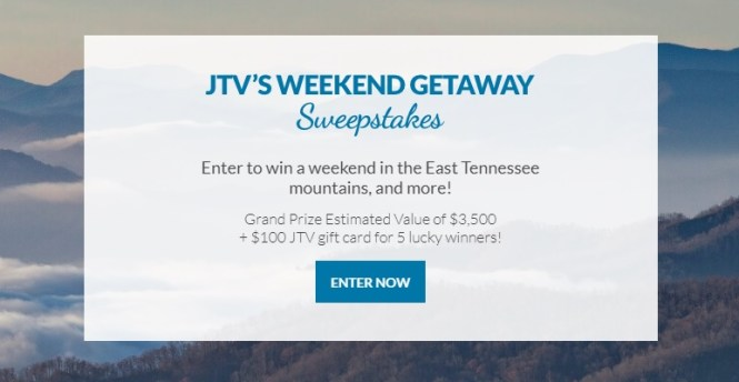 JTVs Weekend Getaway Sweepstakes
